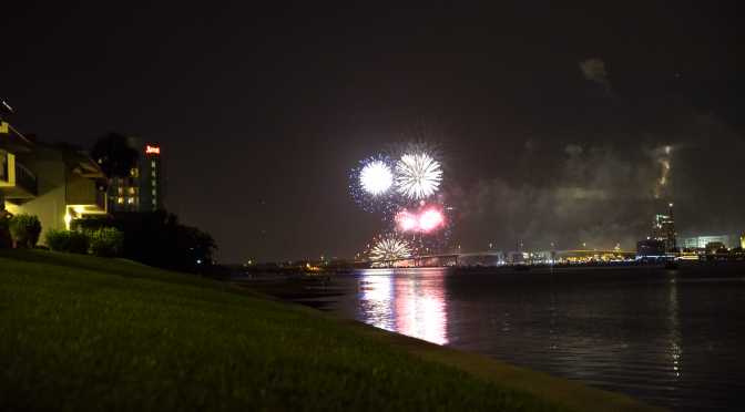 Fourth of July Fireworks in Clearwater, Florida