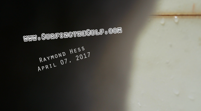 From April 07, 2017 – Raymond Hess Video
