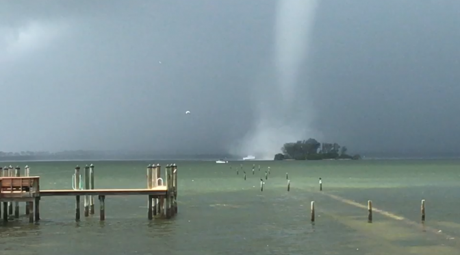 Dunedin Causeway Waterspout Swallows Boat, Video by Riley OConnell