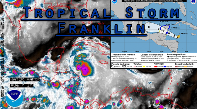 Tropical Storm Franklin is Spinning