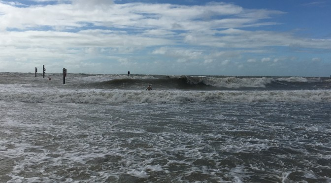Hurricane Irma Surf Report: South Clearwater Beach, Monday, 4:30pm