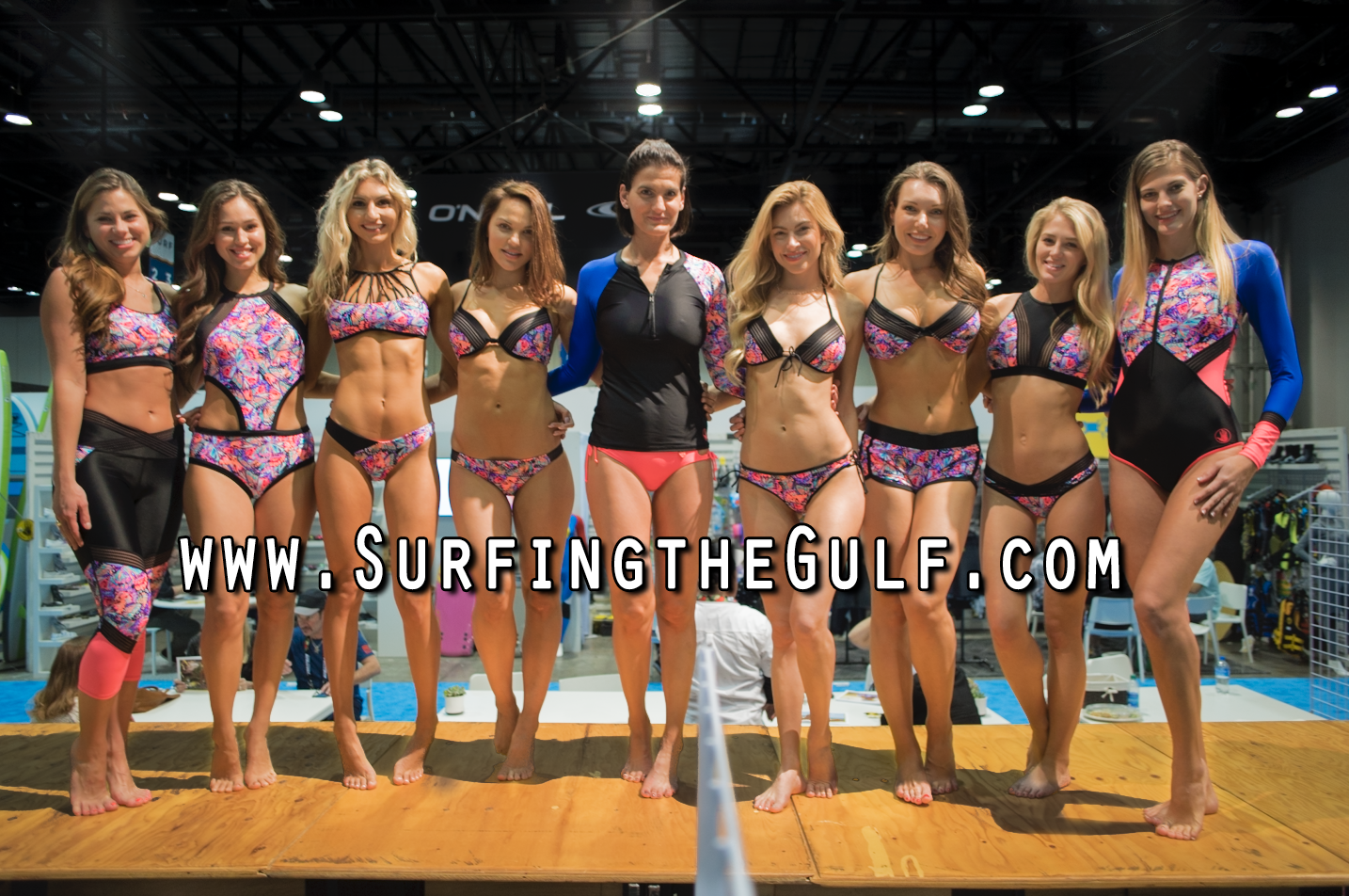 Body Glove girls at the Surf Expo