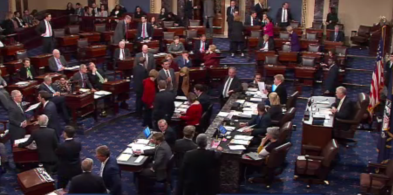 US Senate Floor Government Shut Down